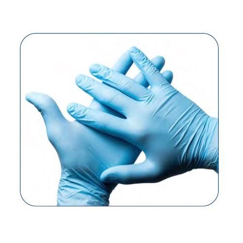 Blue Nitrile Gloves - Large or Medium - 100 gloves per box