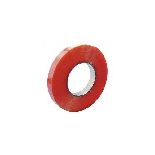 Red Double Sided Tape Roll 24mm x 50m Single Roll