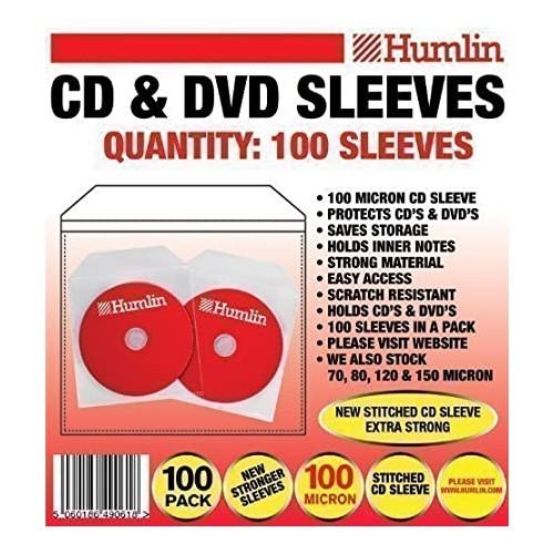 Humlin CD & DVD Sleeves mini CD sleeve [Pk 100]