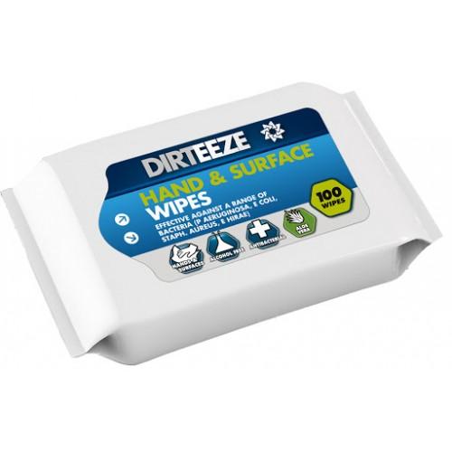 Dirteeze Antibac Hand and Surface Wipes Pk 100