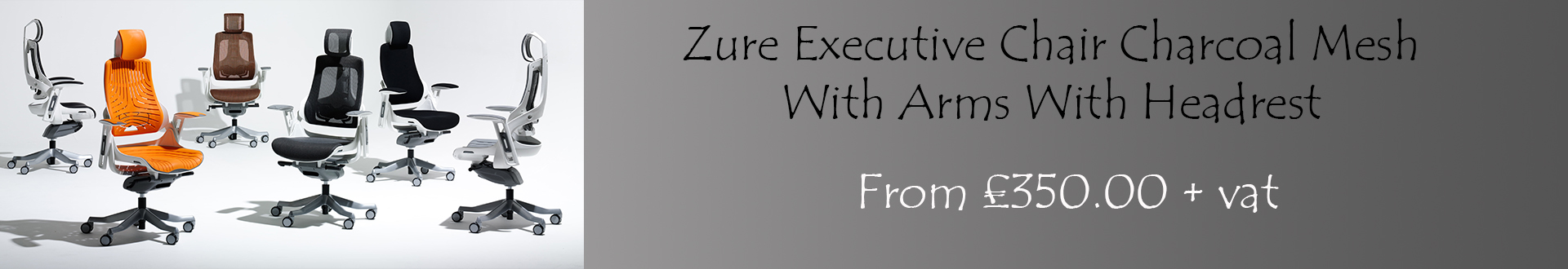 Zure Executive Chair Mesh With Arms With Headrest