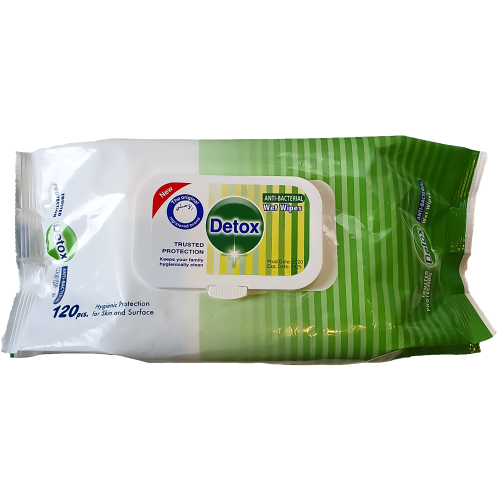 Detox Antibacterial Wipes (Pack 120)