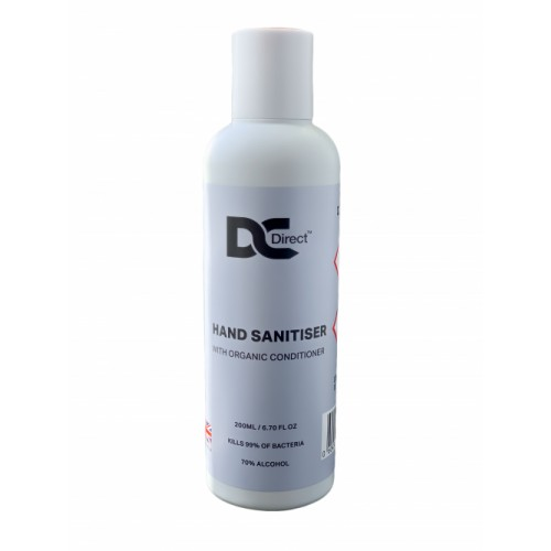 200ml Hand Sanitiser with Organic Conditioner 70% Alcohol [Pack of 12]