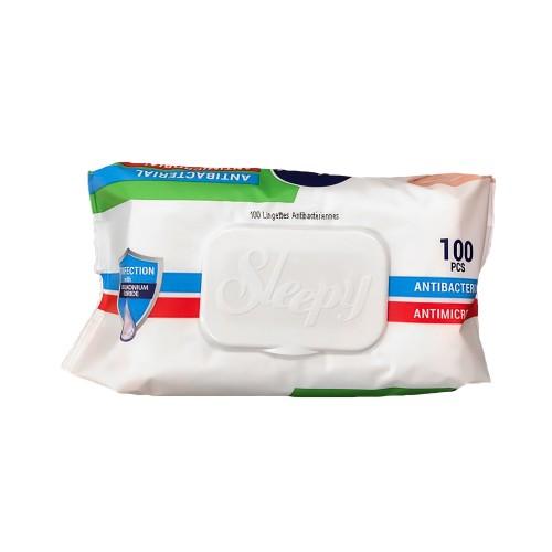 Sleepy Antibacterial Wipes Disinfectant Hand & Surface (Pack 100)