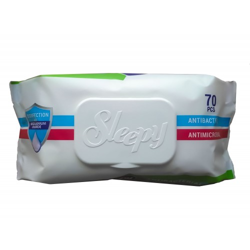 Sleepy Antibacterial Wipes Disinfectant Hand & Surface (Pack 70)