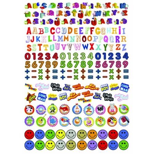 Purple Peach Education Reward Stickers A5