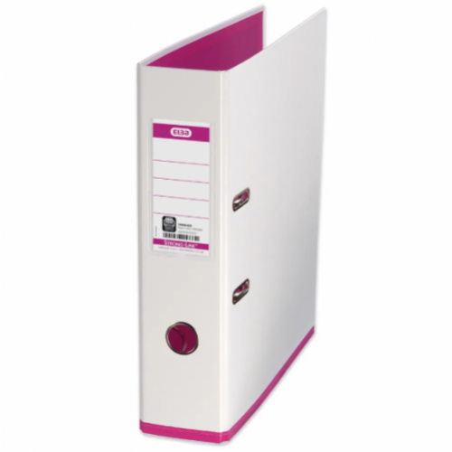 Elba My Colour Lever Arch Files White  Pink