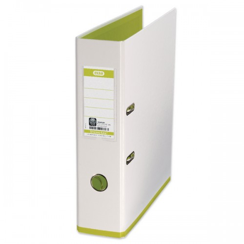 Elba My Colour Lever Arch Files White  Green