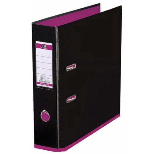 Elba My Colour Lever Arch Files Black  Pink