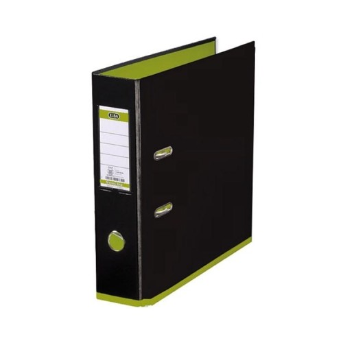 Elba My Colour Lever Arch Files Black  Green