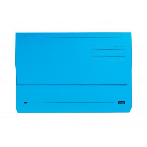 Elba Strongline Document Wallets Foolscap Blue