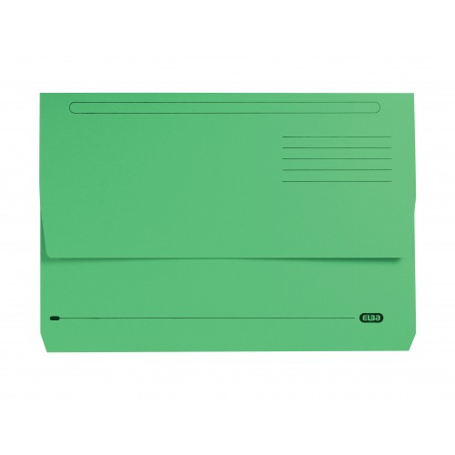Elba Strongline Document Wallets Foolscap Green