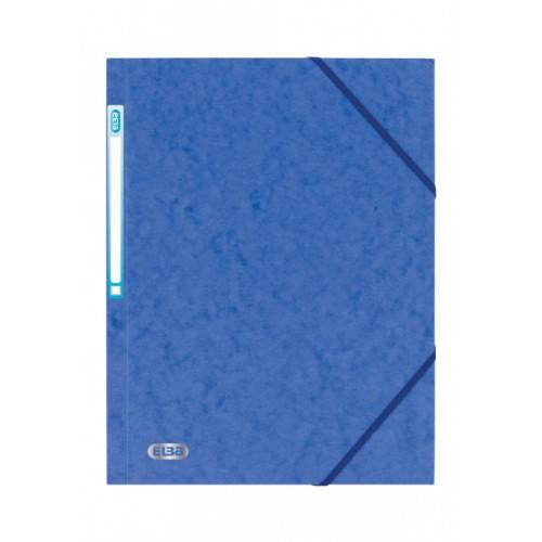 Elba 3 Flap Elasticated Folder Blue