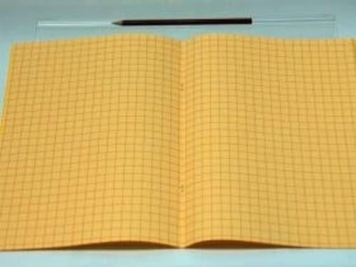 Exercise Books 48 Pages A4 10mm Squares Pages  Covers Yellow