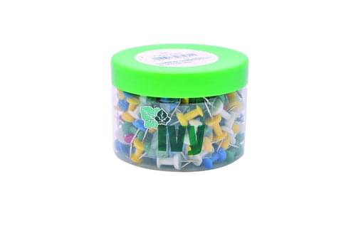 Push Pins Assorted Colours Tub 200s