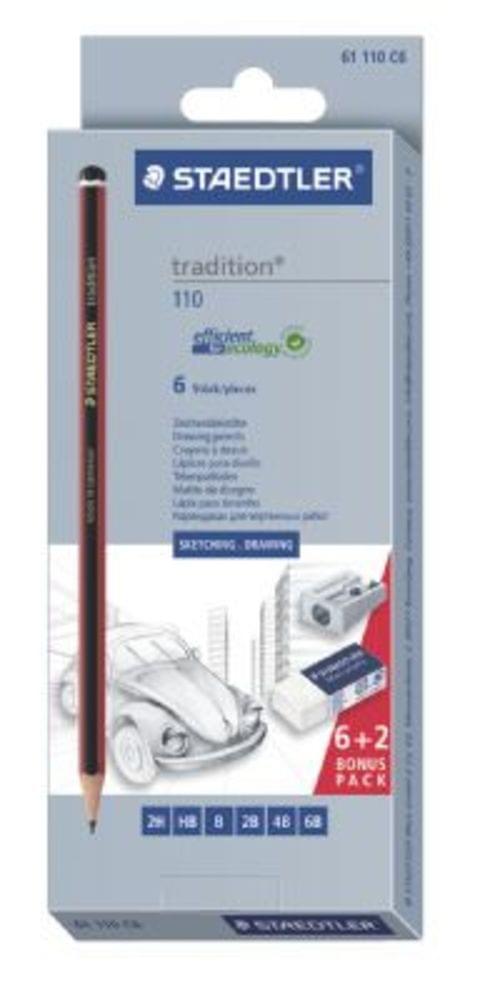 Staedtler Tradition Pencil Box Set  Sharpener  Eraser