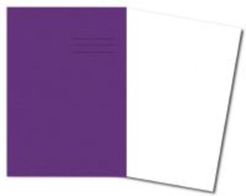 Exercise Books A4+ 320mm x 240mm 48 Pages Plain Purple