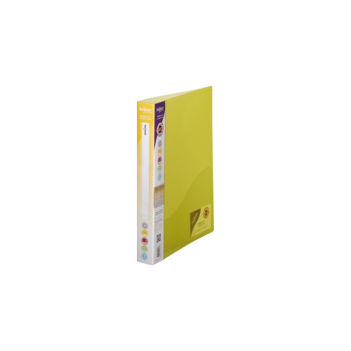 Frosted Ring Binder A4 2 Ring Yellow