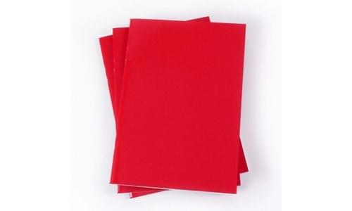Laminated Sketch Book A3 140gsm Red