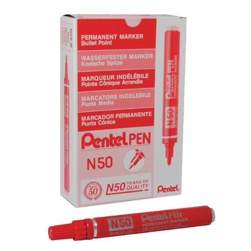 Pentel N50 Bullet Tip Markers Red