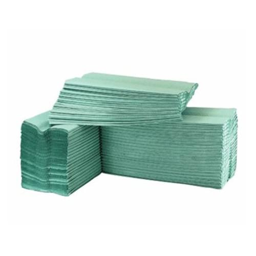 Hand Towels C Fold 1 Ply Recycled 15 Packs Of 180 Towels Green