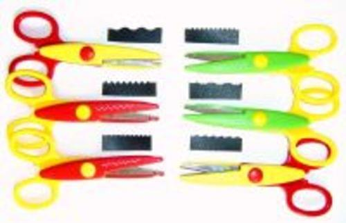 Crazy Cut Scissors Assorted Pack Of 6