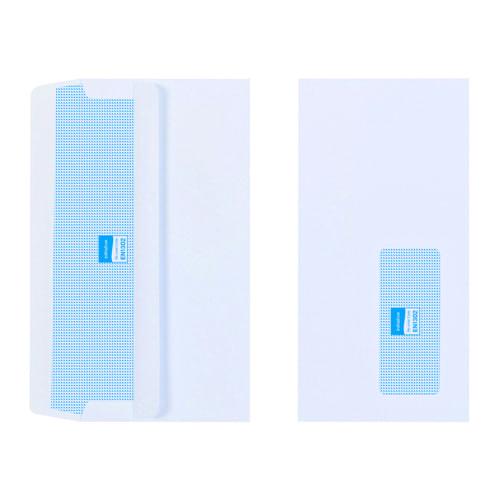 Initiative White Envelopes DL 110mm x 220mm Self Seal Window 100gsm Box 1000s