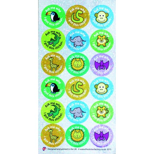 Zoo Ask Me WHY I Got This Sticker Assorted Pack Of 54