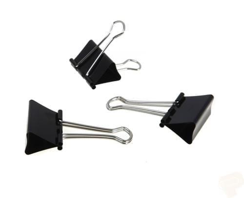 Initiative Foldback Clips 19mm Pack 10s