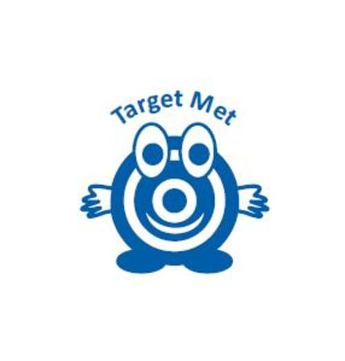 Classmates Motviational Stamp Target Met Target Character