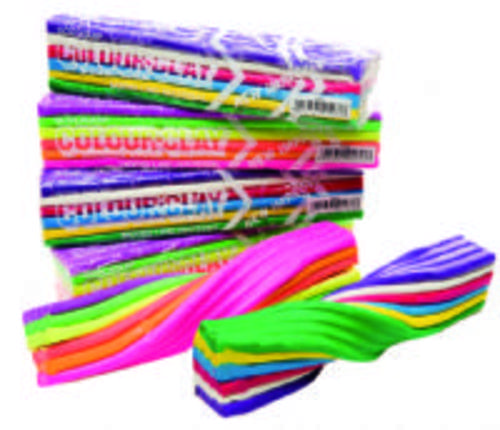 Fluorescent Colour Clay Assorted Colours 500g