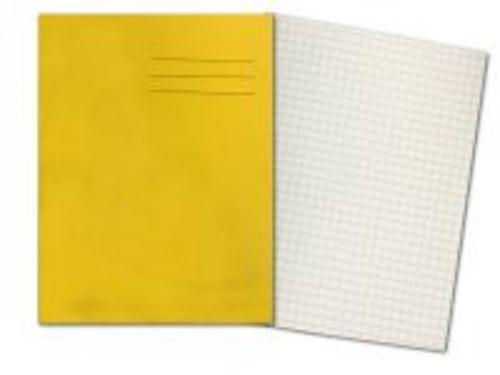 Exercise Books 8 x 6.5 80 Pages 7mm Squares Yellow