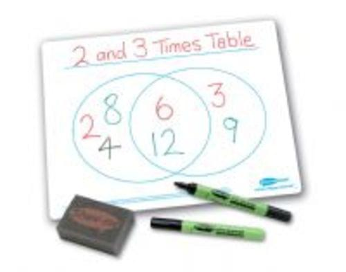Show Me Drywipe Boards Venn Diagram A4 650 Microns Classpack 35