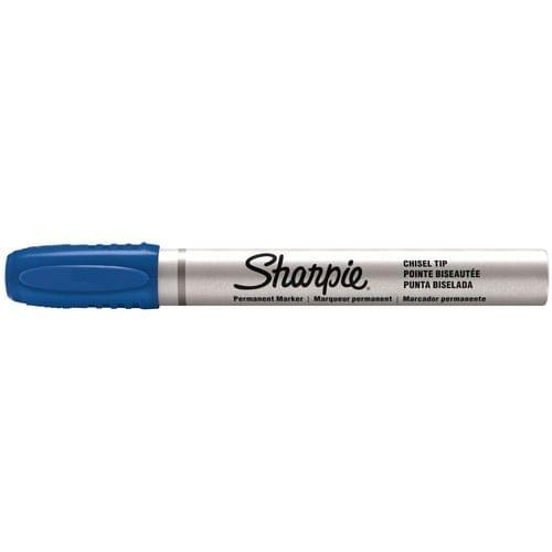 Sharpie Pro Small Chisel Tip 1.0 - 4.0mm Permanent Markers Blue