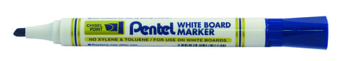 Pentel Everyday WhiteBOARD Markers Chisel Tip Blue
