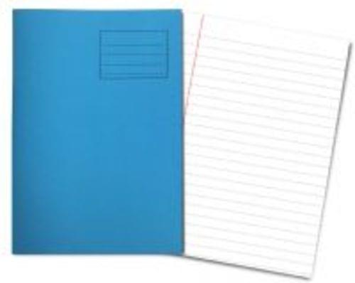 Exercise Books A4+ 320mm x 240mm 80 Pages 12mm Feint & Margin Light Blue