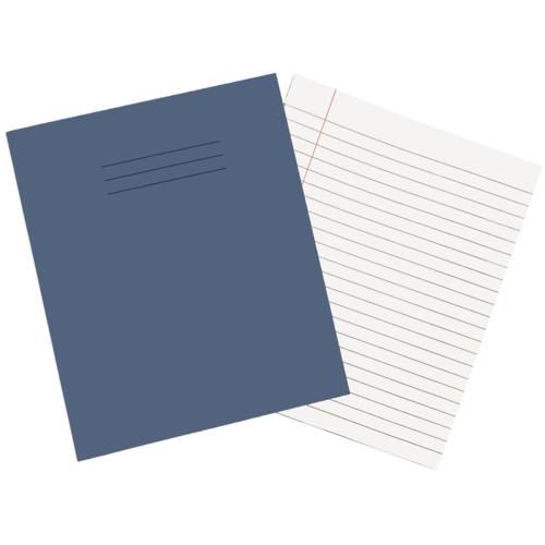 Exercise Books 8'' x 6.5'' 80 Pages 8mm Feint  Margin Light Blue