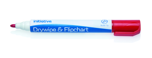 Economy Drywipe Markers Red