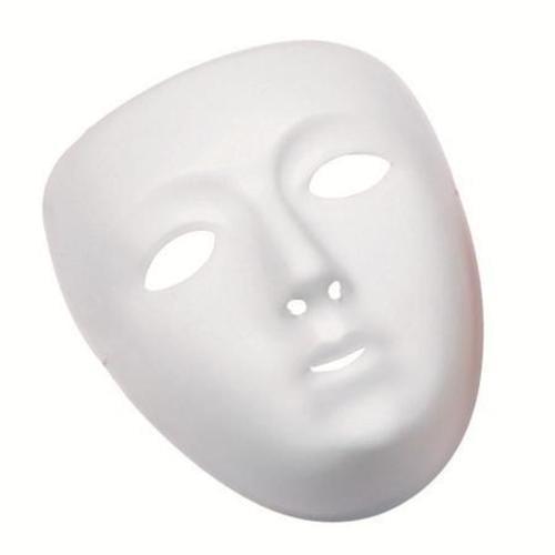 Plain White Face Masks Pack 10 L-MU0001