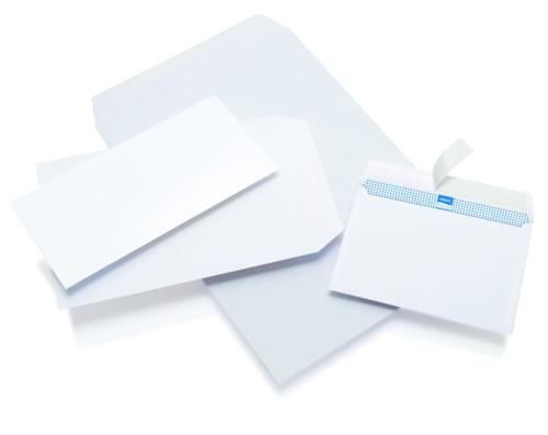 Initiative White Envelopes C6 114mm x 162mm Self Seal Plain 80gsm Box 1000s