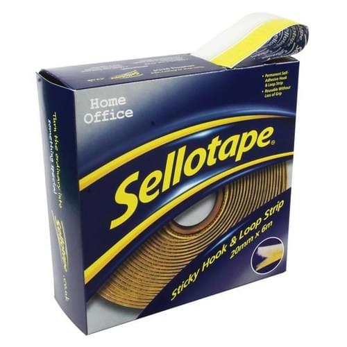 Sellotape Sticky Hook And Loop Strip 6 Metres