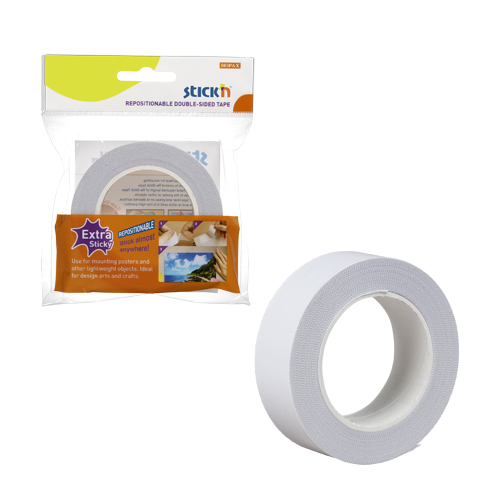 Repositionable Double Sided Tape 25mm x 12mtrs.