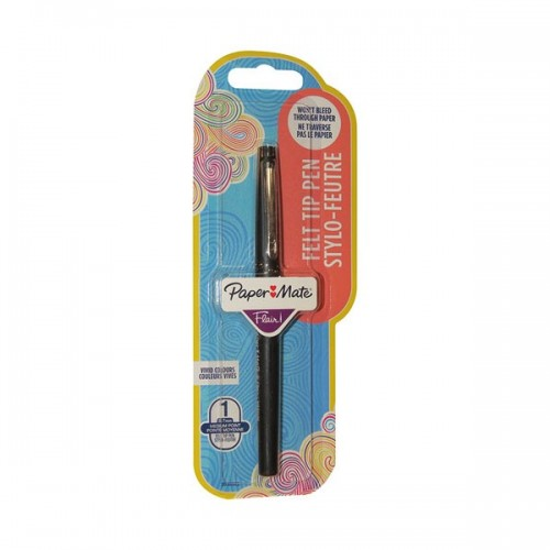 Papermate Flair Medium Point Blister Carded Black