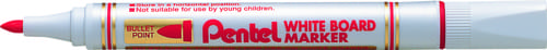 Pentel Everyday WhiteBOARD Markers Bullet Tip Red