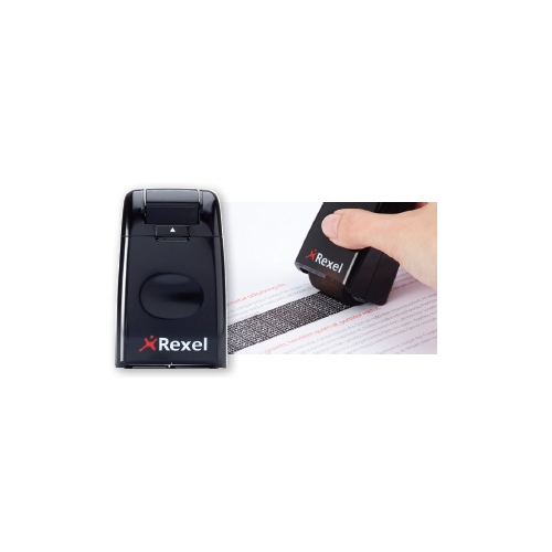 Rexel ID Guard Roller Stamp Black
