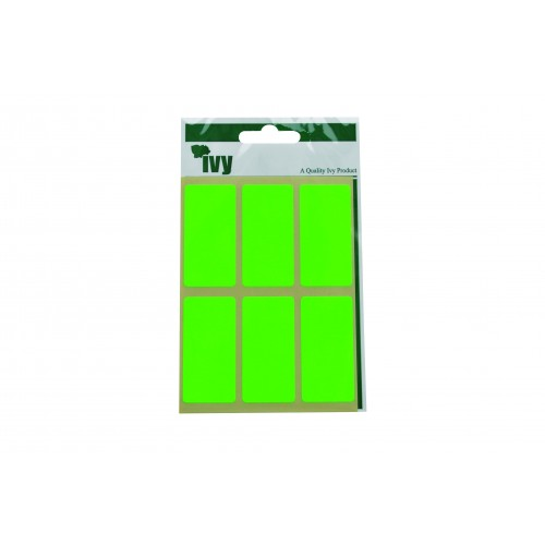 Ivy Self Adhesive Lable 25mm x 50mm Green Pack 24