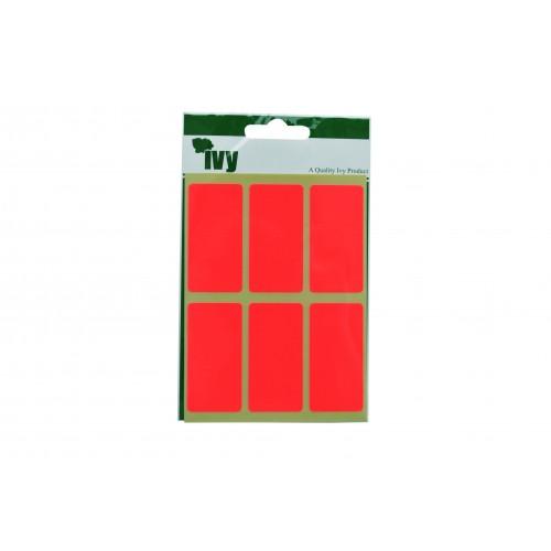 Ivy Self Adhesive Lable 25mm x 50mm Orange Pack 24