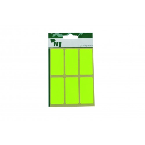 Ivy Self Adhesive Lable 25mm x 50mm Yellow Pack 24