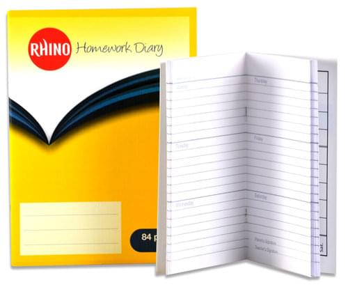 Home Work Diary 8'' x 5.75''  5 Days 84 Pages Yellow SDWD2