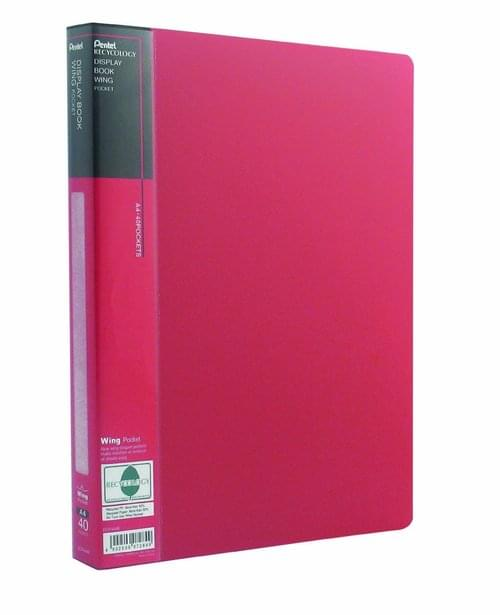 Pentel Wing Display Books A4 40 Pockets Red